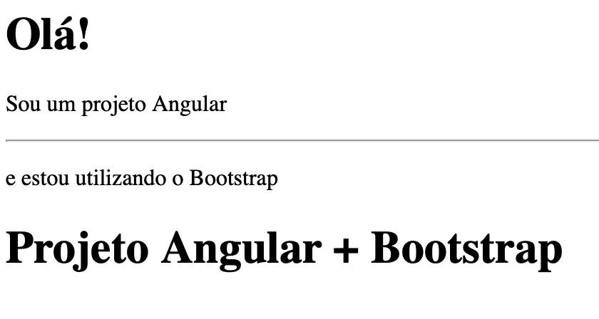 Resultado mostrando que o tema do Bootstrap ainda não foi aplicado ao projeto