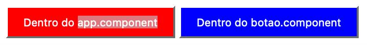 Dois botões, um com background vermelho e outro azul - Exemplo ShadowDom